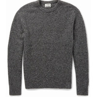 Acne Studios - Chet Donegal Merino Wool-Blend Sweater | MR PORTER