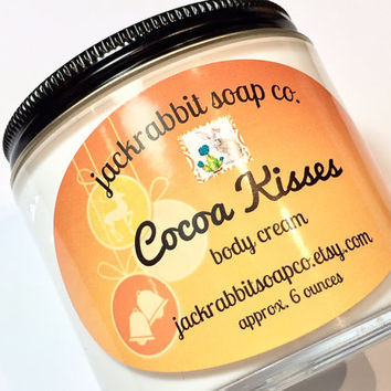 Cocoa Kisses Body Cream, Chocolate Lotion, Mint Lotion, Vanilla Lotion, Sweet Lotion, Holiday Lotion, Body Cream, Christmas Lotion