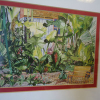 Green Blooms Eileen Sietz Expressionism Signed Print