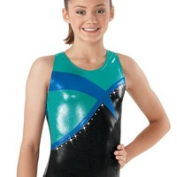 Metallic Inset Tank Leotard