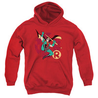 Youth Batman the Animated Series/Robin Leap Hooded Sweatshirt