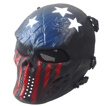 Fashion Style Airsoft Paintball Full Face Skull Skeleton Costume Mask Tactical Military Halloween 2016 Gift 1pcs