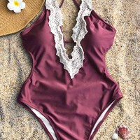 Cupshe Enormous Enjoyment Lace One-piece Swimsuit