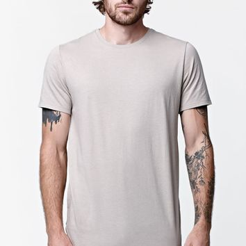 On The Byas Trestles Scallop Crew T-Shirt - Mens Tee - White