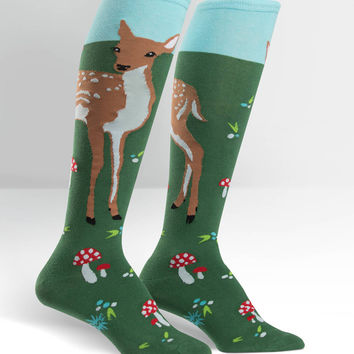 Sock It To Me Fawn Memories Knee High Socks