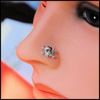 Nose Stud  Skull and Crossbones / Limited Edition by RockYourNose