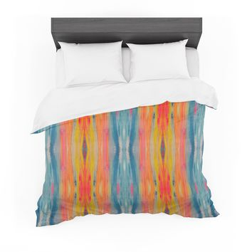 "Nika Martinez ""Boho Tie Dye"" Teal Orange Featherweight Duvet Cover"