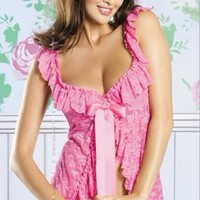 Hot Deal On Sale Cute Sexy Lace Set See Through Print Split Ladies Sleepwear Exotic Lingerie [6595875971]
