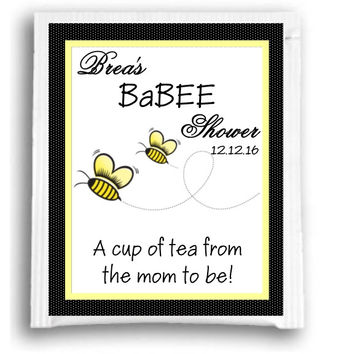 Babee Bee Themed Baby Shower Tea Favors