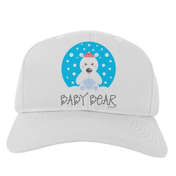 Matching Polar Bear Family - Baby Bear Adult Baseball Cap Hat by TooLoud