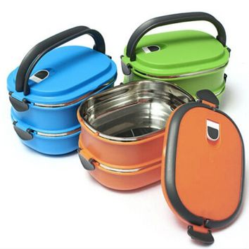 Multilayer Stainless Steel Insulation Thermal Lunch Bento Box Food Container for Kids Picnic