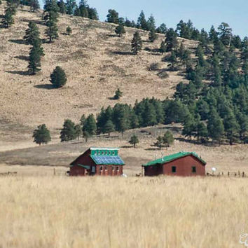 Country House and Barn Art Print, Forest Photography, Wall Art Decor, Southwest Art, Arizona Forest Landscape Art