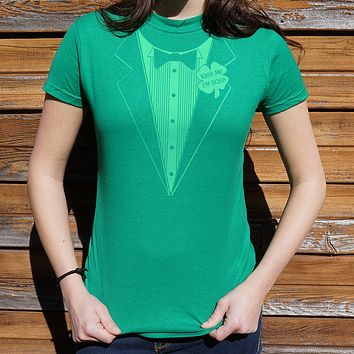 Irish Tuxedo [Kiss Me, I'm Irish] Women's T-Shirt