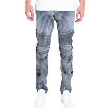 Embellish Nyc Emily Jeans In Grey - Beauty Ticks