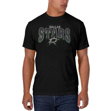 47 Brand Dallas Stars Arch Logo Scrum T-Shirt - Charcoal