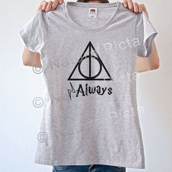 Always deathly hallows Harry Potter quote T-shirt-Harry potter women tshirt-deathly hallows men tees-always potter tees-NATURA PICTA NPTS016