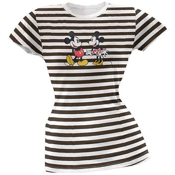 Mickey Mouse - Friends Stripe Juniors T-Shirt