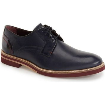 Ted Baker Men's Navy Plain Toe Derby Shoes