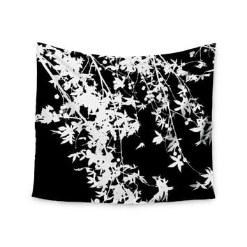 "Ingrid Beddoes ""White on Black"" Wall Tapestry"