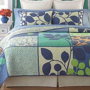 Martha Stewart Collection Bedding, Tiled Vines Quilts - Quilts & Bedspreads - Bed & Bath - Macy's