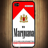 Marijuana Cigarettes Pack iPhone Case - Rubber Silicone iPhone 4 / 4s Case