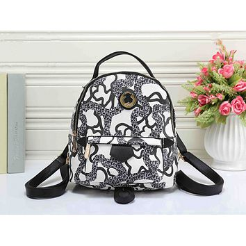 TOUS Women Casual School Bag Cowhide Leather Backpack