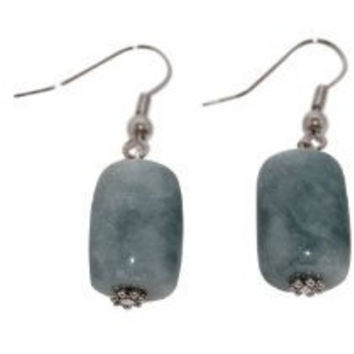 Jade Earrings Green Jade Barrel Shape