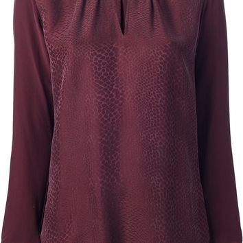 Rebecca Taylor Jacquard Pieced Blouse