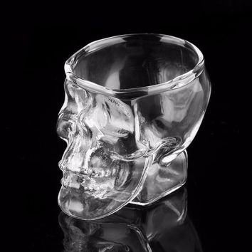 Skull Head Shot Glass Cup Wine Mug Beer Glass Mug Crystal Whisky Vodka Tea Coffee Cup 80ml Gift Water Bottle