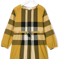 Burberry Kids Checked Belted Dress - Farfetch
