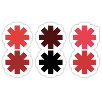 'Red Hot Chili Peppers Symbol' Sticker by samcata