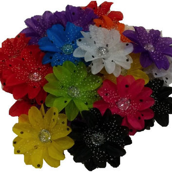 3pcs. Mix Polka Dot Lily Flower Hair Clips
