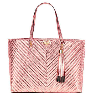 V-Quilt Metallic Crackle Everything Tote - Victoria's Secret