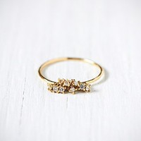 Free People Diamond Cluster Ring