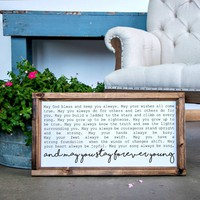 Wood Framed Signboard - Forever Young - Multiple Sizes