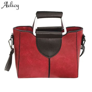 Aelicy Leather Handbags Big Women Bag High Quality Casual Female Bags Trunk Tote Brand Large Shoulder Bag Ladies Bolsos