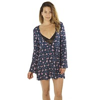 Bell Sleeved Floral Mini Dress