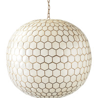 Capiz Honeycomb Chandelier