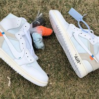 Off-White x Air Jordan 1 AA3834-101 Size 36---47