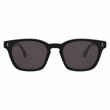 Illesteva Paxton 48mm Matte Black Sunglasses / Black Lenses