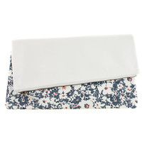 Asteraceae Leather & Print Clutch