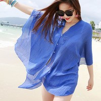 Summer Cute Cardigan Beach Cover Up