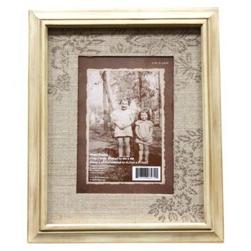 Threshold™ Antique Wood Picture Frame 5X7 - Linen Mat