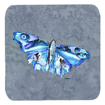 Set of 4 Butterfly on Gray Foam Coasters