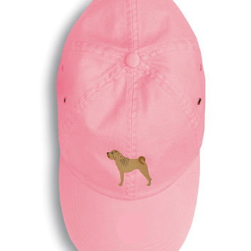 Shar Pei Merry Embroidered Baseball Cap BB3452PK-156