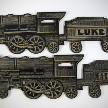 Steam Train Name Plaque for Child's Room