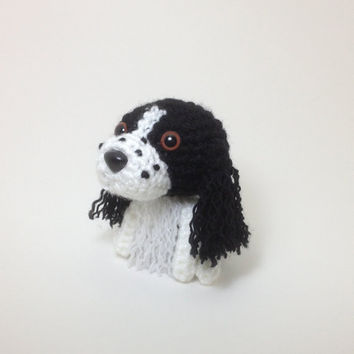 Springer Spaniel Stuffed Animal Dog Amigurumi Doggie Handmade Crochet Puppy Plush Doll / Made to Order