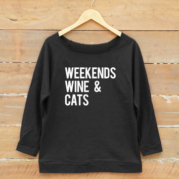 Cat shirt Wine shirt saying tumblr grunge nerd funny quote shirt sweatshirt women off shoulder sweatshirt slouchy jumper women sweatshirt