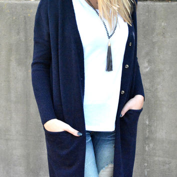 Endless Possibilities Cardigan - Navy