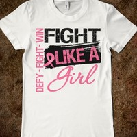GRUNGE FIGHT LIKE A GIRL - BREAST CANCER